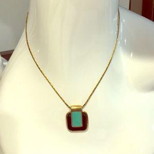 Givenchy 1977 marked enamel pendant